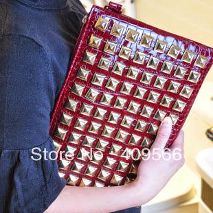 envelope fashion punk rivet clutch shoulder bag messeng